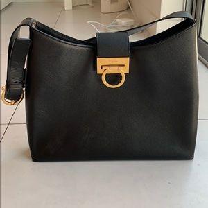 Salvatore Ferragamo Leather Hinge-Lock Bag